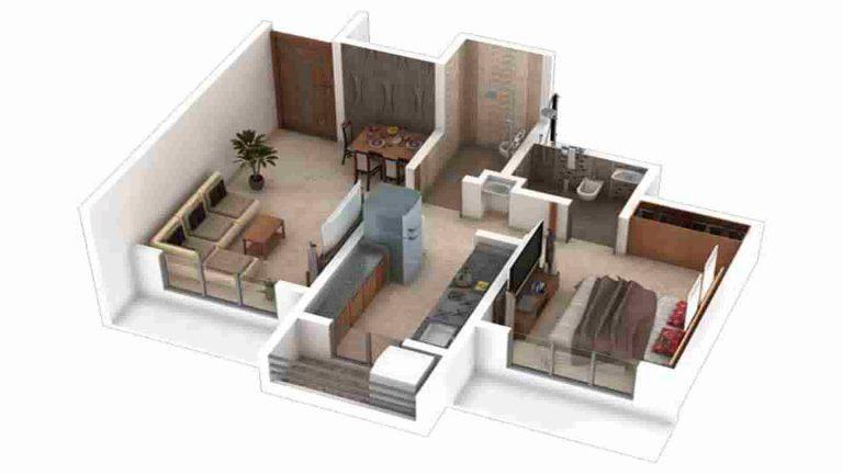 1-bhk-floor-plan-kalyan-nagari-honest-developers-off-kalyan-thane-highway-kongaon-thane-maharashtra