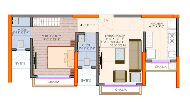 project-1bhk-type1-floor-plan-victoria-54-vaibhav-laxmi-developers-kannamwar-nagar-vikhroli-east-mumbai-maharashtra