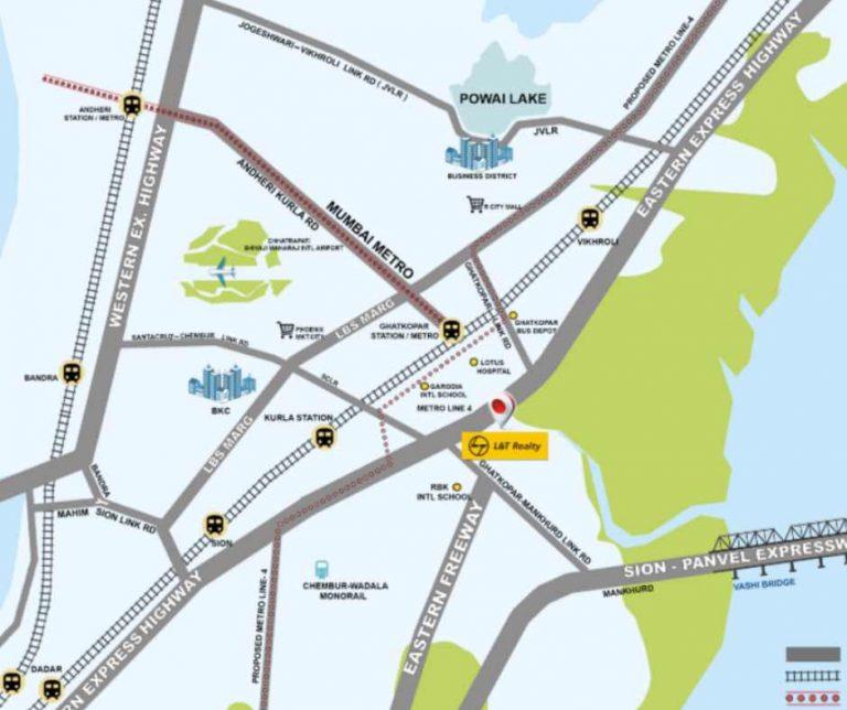 project-location-map-lnt-centrona-lntrealty-ghatkopar-east-mumbai-maharashtra