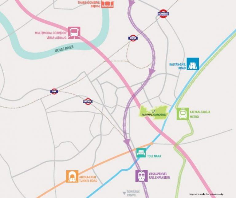 project-location-map-runwal-gardens-runwal-group-kalyan-shilphata-road-dombivli-east-maharashtra