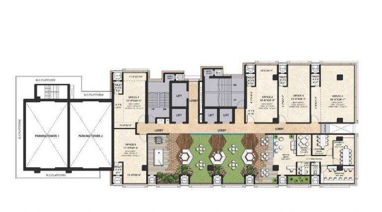 project-seventh-floor-refuge-plan-the-metropole-azlo-realty-jethalal-parekh-road-ghatkopar-west-maharashtra