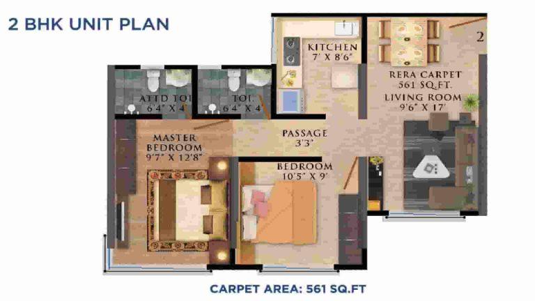2-bhk-floor-plan-olympus-vaibhav-laxmi-builders-and-developers-kannamwar-nagar-vikhroli-maharashtra