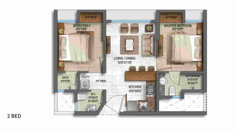 2bed-floor-plan-lodha-crown-lodha-group-majiwada-thane-mumbai-maharashtra