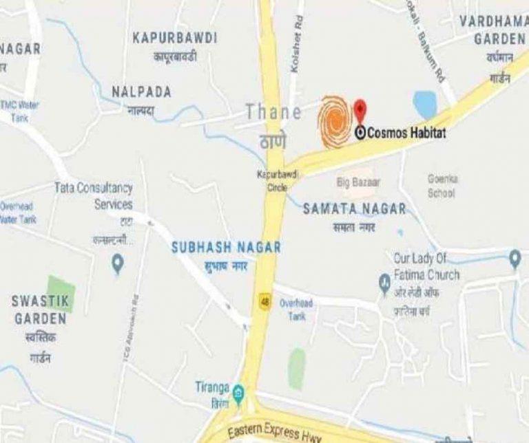 location-google-map-cosmos-habitat-cosmos-group-majiwada-thane-maharastra