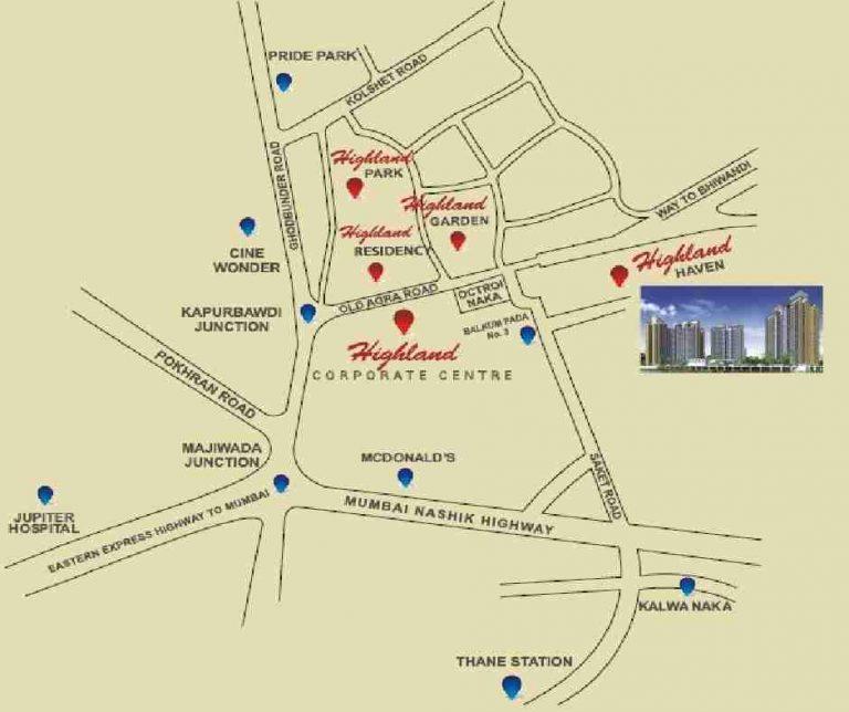location-google-map-highland-haven-larkins-group-saket-road–thane-west-maharashtra