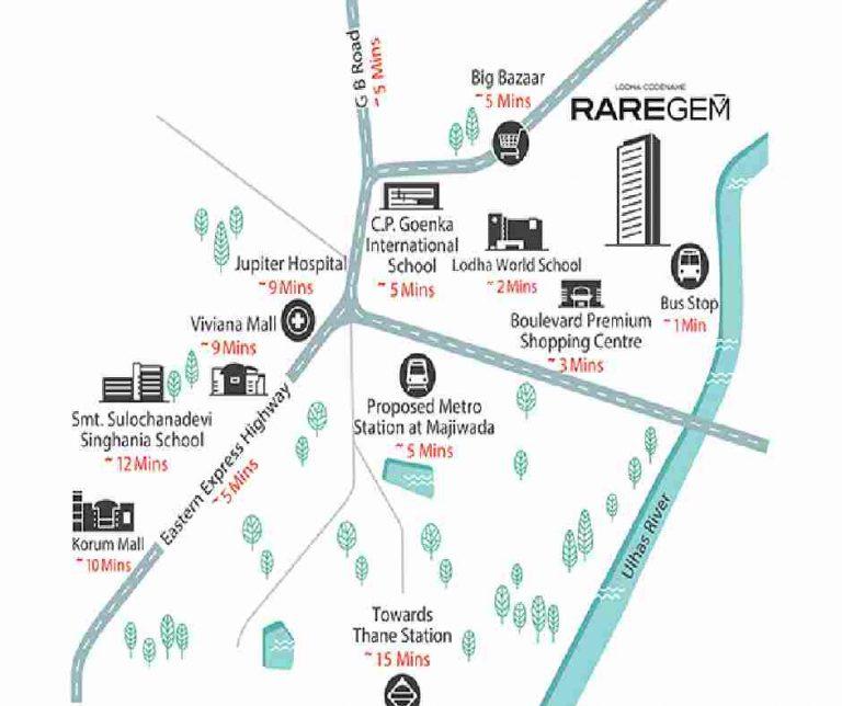 location-google-map-lodha-codename-rare-gem-lodha-group-majiwada-thane-mumbai-maharashtra