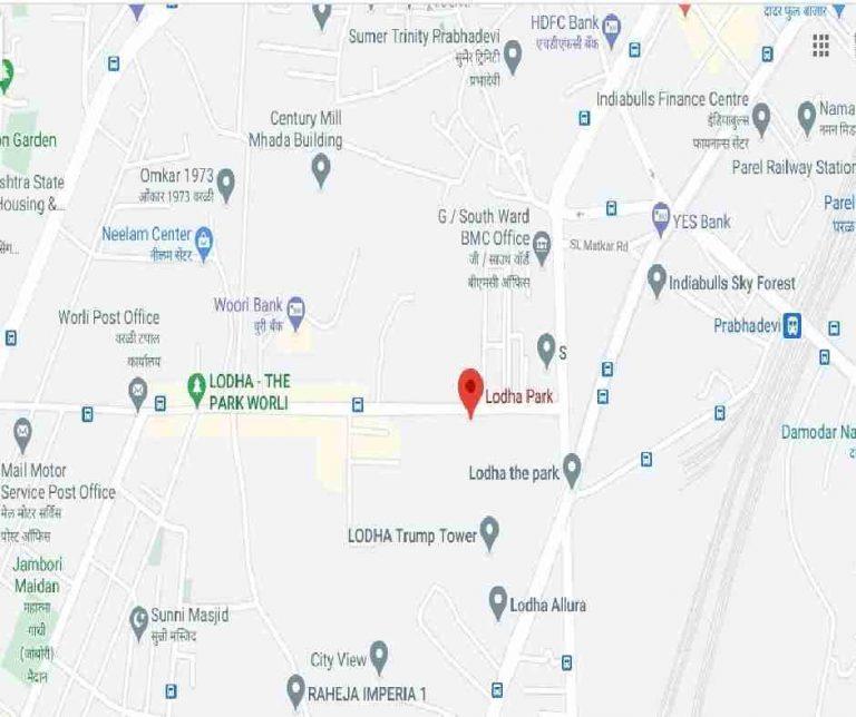 location-google-map-lodha-the-park-lodha-group-pandurang-budhkar-marg-worli-mumbai-maharashtra