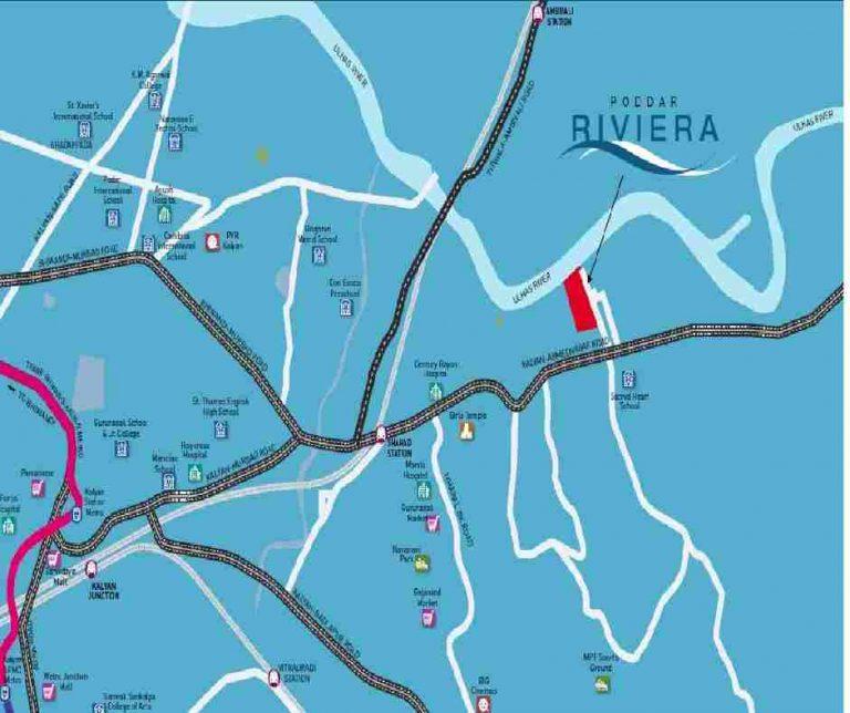 location-google-map-poddar-riviera-poddar-housing-murbad-road-shahad-kalyan-west-thane-maharashtra