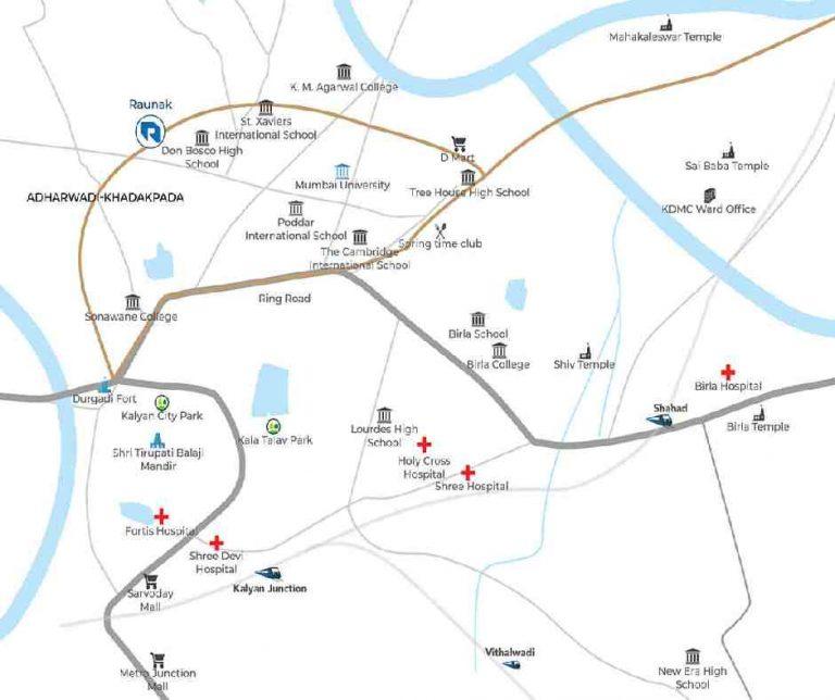 location-google-map-raunak-urban-centre-raunak-group-adharwadi-khadakpada-kalyan-west-thane-mumbai-maharashtra
