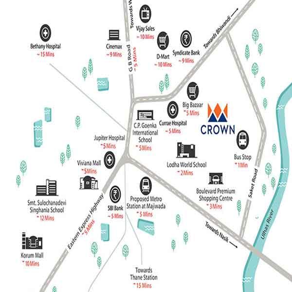 location-map-lodha-crown-lodha-group-majiwada-thane-mumbai-maharashtra