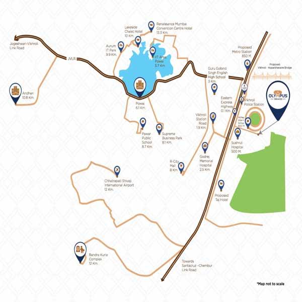 location-map-olympus-vaibhav-laxmi-builders-and-developers-kannamwar-nagar-vikhroli-maharashtra