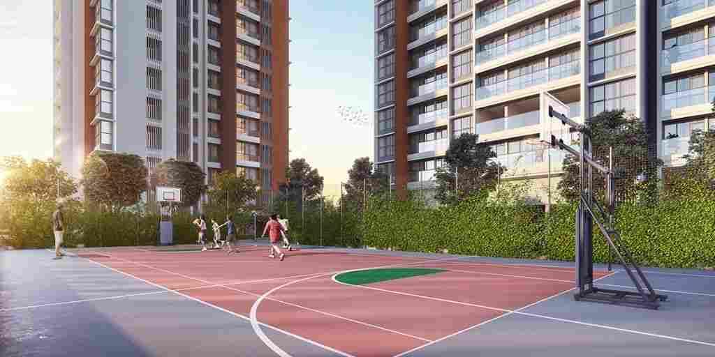 multipurpose-court-amenities-godrej-exquisite-godrej-properties-kavesar-thane-mumbai-maharashtra