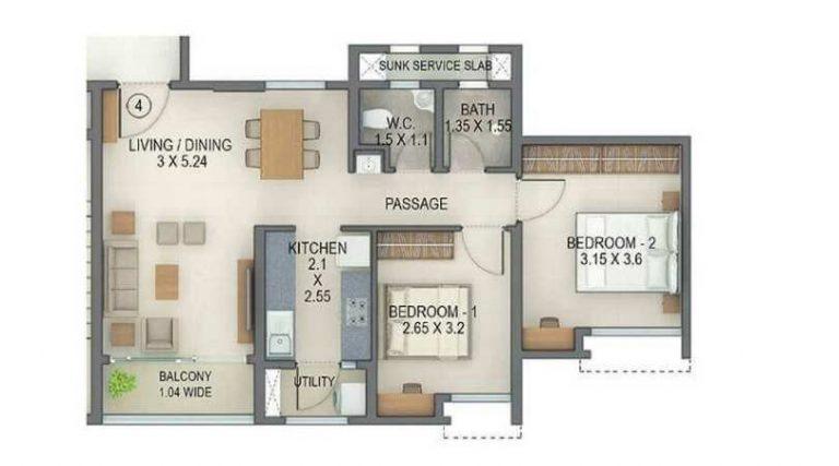 project-2bhk-type3-unit-plan-tata-amantra-tata-housing-bhiwandi-kalyan-juction-thane-mumbai-maharashtra