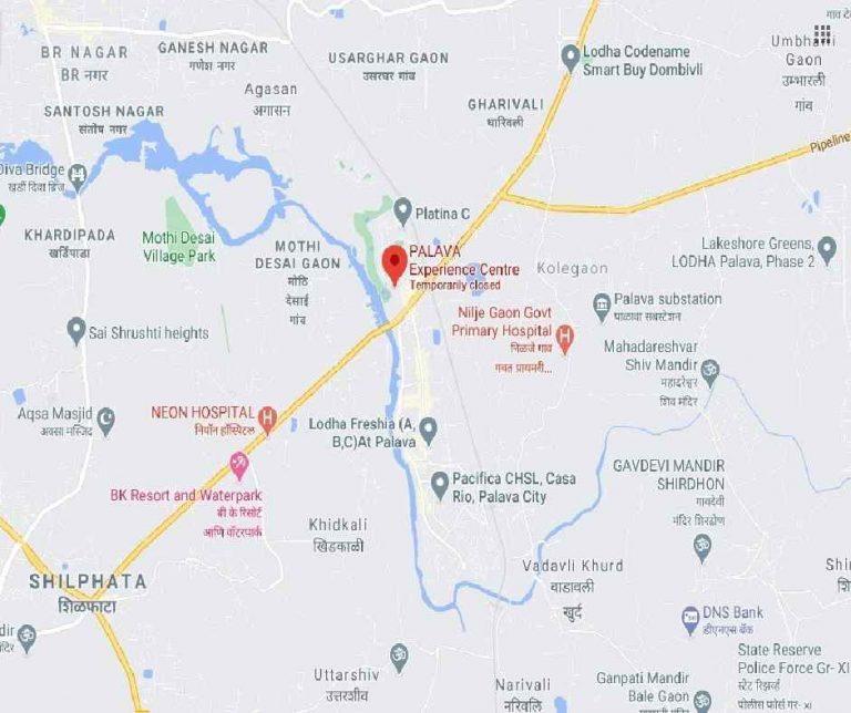 project-location-map-lodha-palava-lakeshore-greens-lodha-group-kalyan-shil-road-shilphata–thane-maharashtra