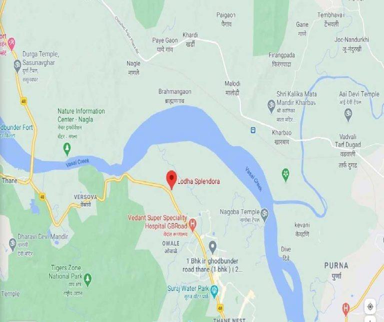 project-location-map-lodha-splendora-codename-unbelievable-lodha-group-ghodbunder-road-thane-west-maharashtra