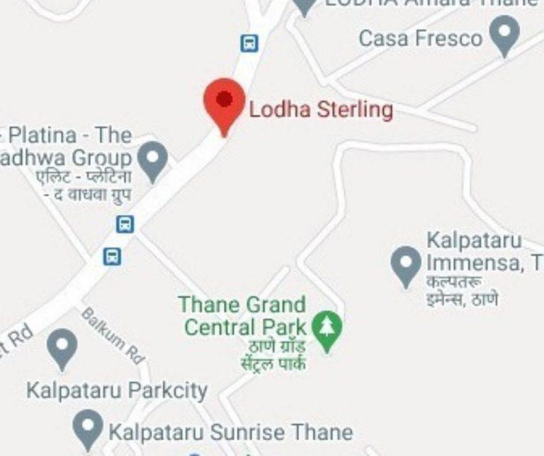 project-location-map-lodha-sterling-lodha-group-kolshet-road-thane-west-maharashtra