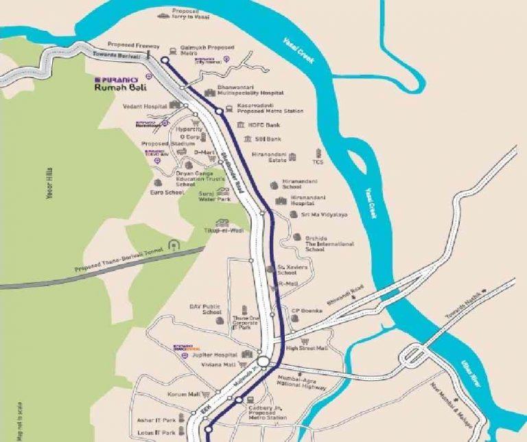 project-location-map-puraniks-rumah-bali-ghodbunder-road-puraniks-group-thane-west-maharashtra