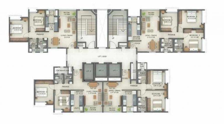 project-tower-f-typical-floor-plan-tata-amantra-tata-housing-bhiwandi-kalyan-juction-thane-mumbai-maharashtra