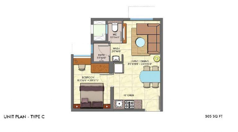 1bhk-unit-plan-type-c-lodha-crown-taloja-lodha-quality-homes-lodha-group-taloja-navi-mumbai-maharashtra