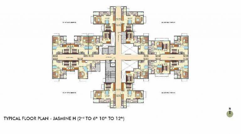 typical-floor-plan-jasmine-wing-h-lodha-crown-taloja-lodha-quality-homes-lodha-group-taloja-navi-mumbai-maharashtra