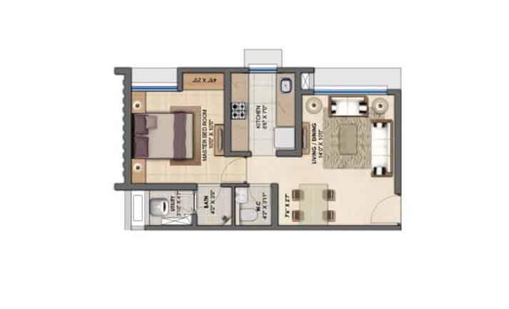 project-1-bhk-flats-floor-plan-lodha-upper-thane-casa-sereno-lodha-group-thane-maharashtra