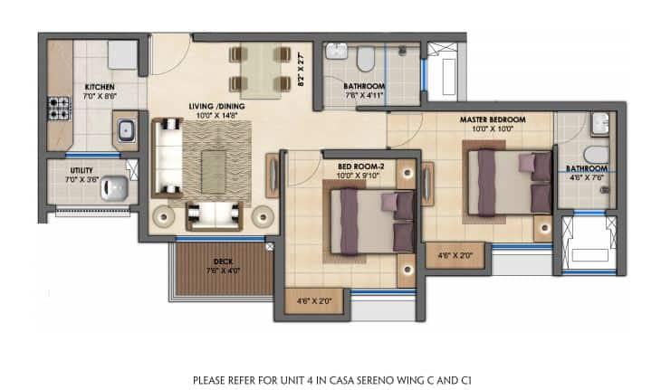 project-type-b-2-bhk-flats-floor-plan-lodha-upper-thane-casa-sereno-lodha-group-thane-maharashtra